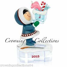 2015 Hallmark Frosty Friends Keepsake Ornament Go Ice Fishing #36 in Series 36th