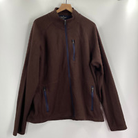 Tailor Vintage Mens Brown Long Sleeve Full Zip Fleece Jacket Size XL XXL