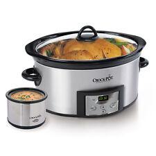 Crock-Pot Programmable 6-Quart Slow Cooker w/Dipper & Recipe Book