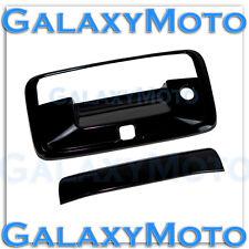14-15 Chevy Silverado 1500 Black Tailgate Handle w/Keyhole+Camera hole Cover