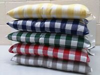 Gingham Seat Cushion Pads Kitchen Garden Dining Chair Cotton Twill  (2 pack)