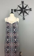 Eight Sixty Women's  Multi Color Sleeveless Maxi Dress  Size XS High Low