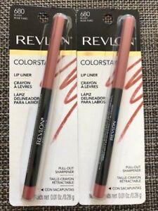 Lot of 2, Revlon Colorstay Lip Liner, 680 Blush