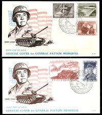 Belgien 1077-81 FDC, General Patton