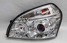 Clear Halo LED DRL Projector Headlights FITS Hyundai Tucson 05-09 Pair RH LH
