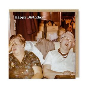 Unique Vintage Retro Birthday Greeting Card For Her, Long Day, Ladies Lady Funny