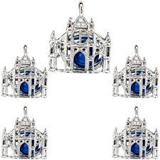 Diffuser Charm Locket Pendant 5X-K1233 Pearl Cage Castle Building Perfume
