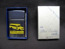 NICE Carpenter Bus Wind Master lighter N.O.S. advertising zippo porcelain sign