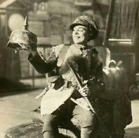 Vesta Tilley actress RPPC postcard antique portrait Army Character German hat