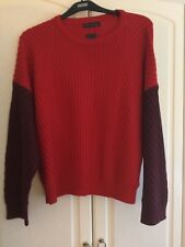 MARKS AND SPENCERS 18/20.  XL WARM JUMPER IN RED,WOOL BLEND NEW WITH TAGS £35.00