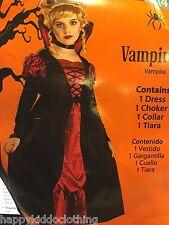 VAMPIRE FAIRY Halloween Costume NEW size 4-6 girls dress vampiress princess