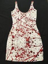 Black Milk Blood Splat Splatter White Red Dress Halloween Horror Medium Sharkie