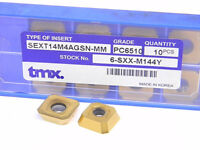 NEW SURPLUS 10PCS. TOOLMEX  SEXT 14M4AGSN-MM GRADE: PC6510 CARBIDE INSERTS