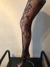 """Calzas patrón de remolino de encaje talla única Super Stretch Talla 34"""" - 42 """"caderas (10-18)"""