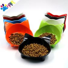 Cat bowl Pet Dog Cat Puppy Exquisite Plastic Food Feeding Water Dish Bowl Feeder