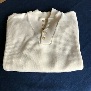 Men's Pullover Sweater, LL Bean, Large, Off White Color