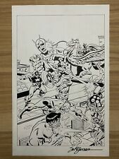 Avengers Annual #4 Original Cover Recreation Art Signed Sal Buscema NO RESERVE