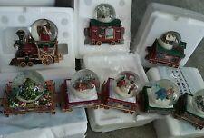 Thomas Kinkade wonderland express Christmas snowglobe train with certificates