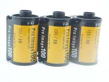 3x KODAK PRO IMAGE 100 35mm 36Exp CHEAP PRO COLOUR FILM By 1st CLASS ROYAL MAIL