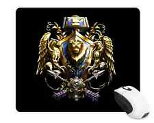 World of Warcraft ALLIANCE CREST WOW Custom Mousepad USA SHIPPING