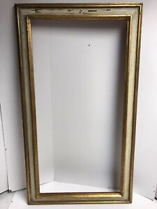 """Vintage Large Wood Picture Frame 19""""x 34"""" Overall 15""""x 30"""""""