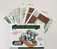 Micromodels BEAM ENGINE SET B.E Micro New Models card model kit