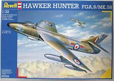 1:32 Hawker Hunter fga.9/mk.58, REVELL 04703 Royal Air Force nato JET ugelli cacciatore