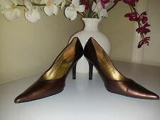 """Rampage """"Haddie"""" Classic Womens Brown Pearl Stiletto High Heel Shoes Sz. 7,5M"""