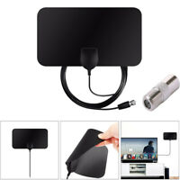 HD Signal Amplifier Digital TV Antenna HDTV Portable Flat Indoor 1080P 50 Miles