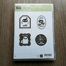 Stampin Up Stamp Set Tricky Treats Clear Unmounted Halloween Ghost Spider