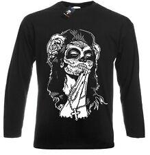 Mexican Skull Long Sleeve T-Shirt/Tattoo/Rock/Metal/Biker/Goth/Sugar/Candy/Top