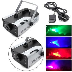 1200W RGB Fog Machine 6-LED Stage Light Wireless Remote DMX DJ Disco Party NEW