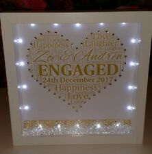 Personalised engagement or wedding gift with crystal sparkles and lights