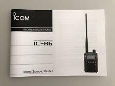 Deutsche Bedienungsanleitung für ICOM IC-R6 Scanner - Original Handbuch