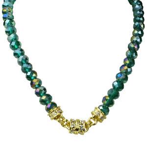 Kirks Folly Mermaid Azure 10mm Beaded Magnetic Interchangeable Necklace gt