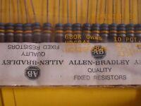 1 Watt Carbon Composition Resistors - Allen Bradley & Ohmite - Lots of 2 Each