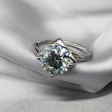 Engagement Ring Round Cut 14k White Gold New listing Certified 2.00 Ct Moissanite Bridal Set