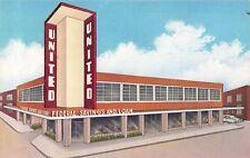 Des Moines IA Art Deco United Federal Savings & Loan~c1950 Car in Drive-Through