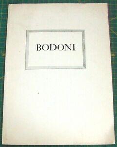 BODONI TYPE SPECIMEN - BAUER TYPE FOUNDRY - 1930'S - TYPOGRAPHY