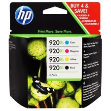 HP Genuine 920XL B, C,M,Y 4-Pack Ink for Officejet 6000, 6500, 7000, 7500