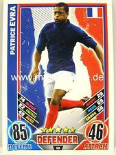 Match Attax Euro EM 2012 - #058 Patrice Evra - Frankreich