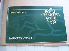 1997 Jaguar owners passport to Service Maintenance schedule Booklet Manual xj xk
