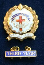 Methodist 1/20 10K Gold Filled Cross & Crown System 2nd & 3rd Year Awards 4 gms