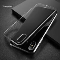 For iPhone XS MAX XR 8 Plus BASEUS Transparent Soft TPU Silicone Back Case Cover