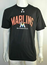 Miami Marlins MIA Under Armour Men's T shirt 4XL Loose fit Heatgear Black NWT