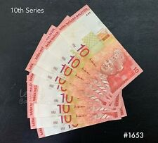 Malaysia - 10th RM10 10xRunning Number | UNC , 1 minor foxing