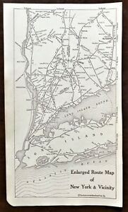 Authentic 1920 Original MAP ~ New York and Vicinity, Long Island Sound