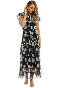 Alice McCall Floating Delicately Dress in Black Size 8
