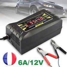 12V 6A Chargeur Batterie Voiture Dépannage Recharge Chargement Rapide Auto Cosse