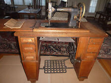 WHITE CO. ROTARY TREADLE SEWING MACHINE IN CRAFTSMAN CABINET-1913 ERA IS WORKING